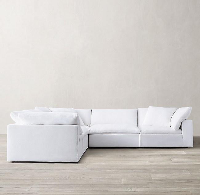 Rh Leather Sofa