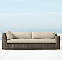 Biscayne Luxe Three-Seat Left/Right-Arm Return Sofa Cushions