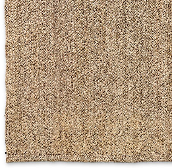 Chunky Braided Jute Rug Swatch Linen
