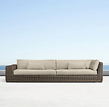 Majorca Luxe Three-Seat Left/Right-Arm Return Sofa Cushions