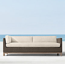 Malibu Three-Seat Left/Right-Arm Return Sofa Cushions