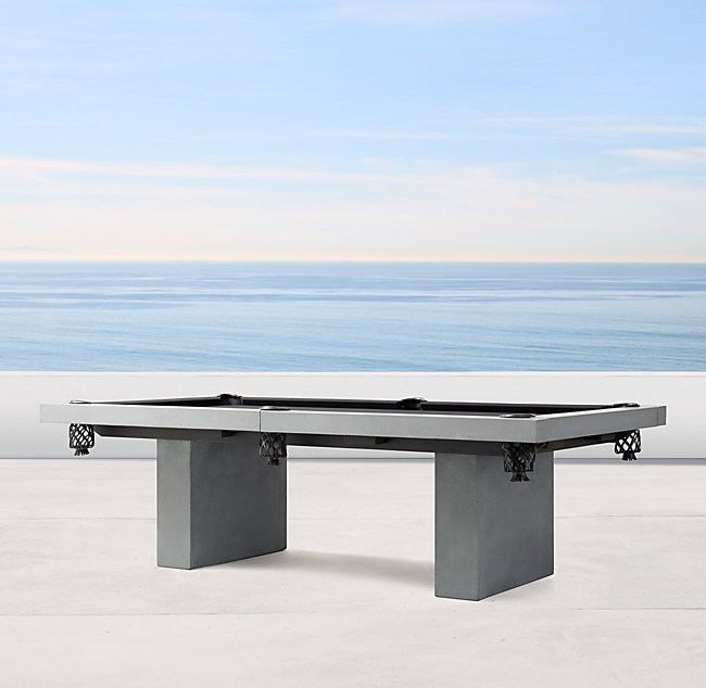 James De Wulf Outdoor Billiards Table - Restoration hardware pool table