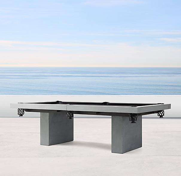 James De Wulf Outdoor Billiards Table