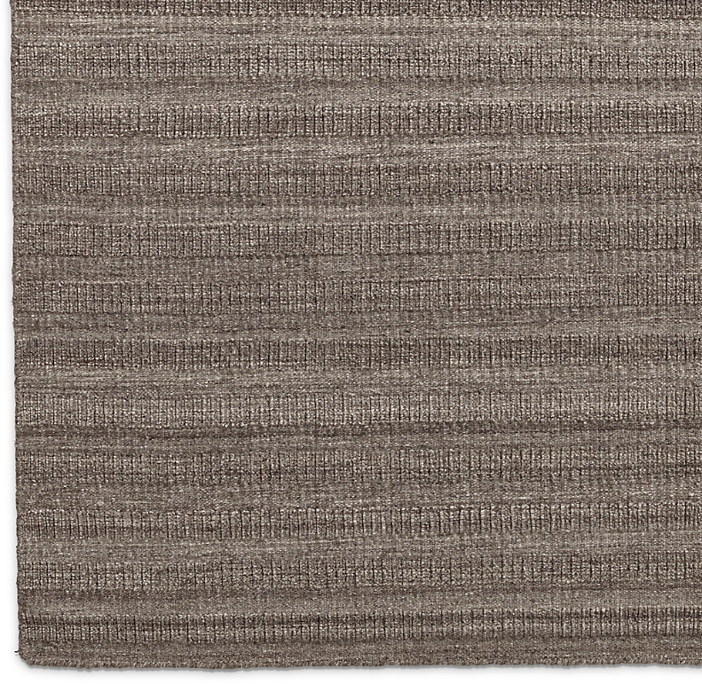 Textured Stripe Wool Rug Swatch Prairie