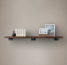 Distressed Cedar Wall Shelf - Tobacco