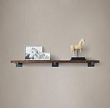 White Distressed Floating Shelf Or Photo Ledge