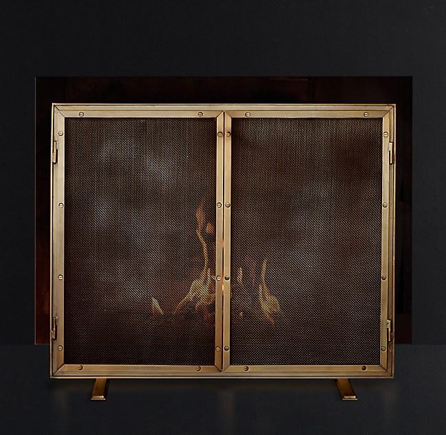 Courchevel Fireplace Mesh Screen With Doors