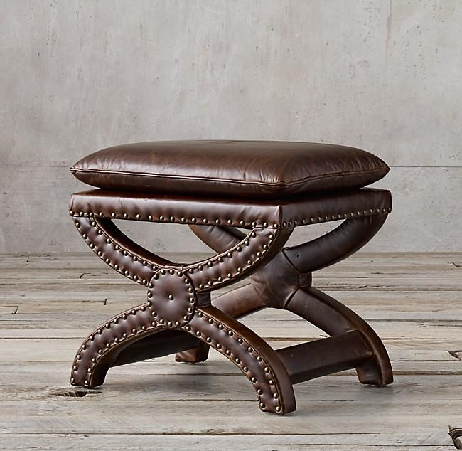 Phenomenal Toscane Leather Stool Dailytribune Chair Design For Home Dailytribuneorg