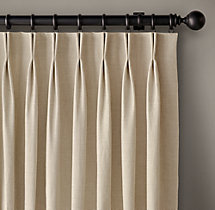 Belgian Linen Cross Weave Drapery - French-Pleat