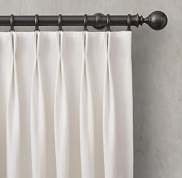 Custom Washed Belgian Linen 2-Fold French-Pleat DraperySelect ...