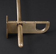 Bayonne Solid Brass Double Rod Conversion Kit Burnished