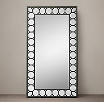 Italian baroque octagon leaner mirror for Baroque leaner mirror