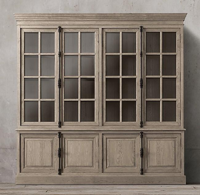 Shop FRENCH CASEMENT 4-DOOR SIDEBOARD & HUTCH from Restoration Hardware on Openhaus