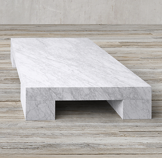 Marble Slab Rectangular Coffee Table Color Preview Unavailable