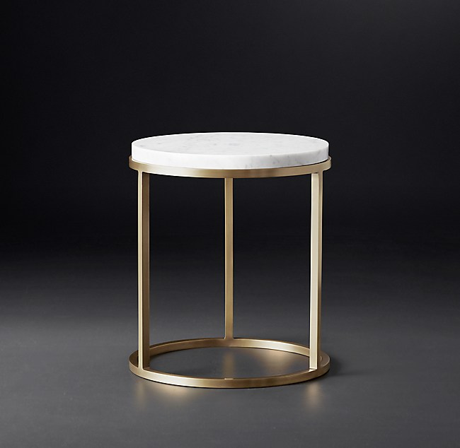Nicholas Marble Round Side Table - Rh modern coffee table