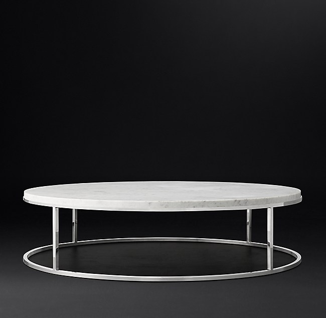 Restoration Hardware Marble Coffee Table: Nicholas Marble Round Coffee Table