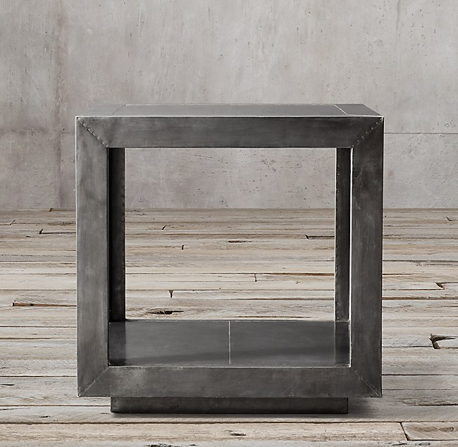 La Salle Metal Wrapped Side Table