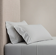 Italian Bold Satin Stitch Cotton Sheet Set