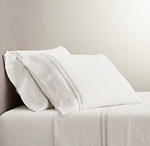 Belgian Linen Vintage Hemstitch Sheet Set