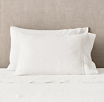 Belgian Linen Vintage Hemstitch Pillowcases (Set Of 2)