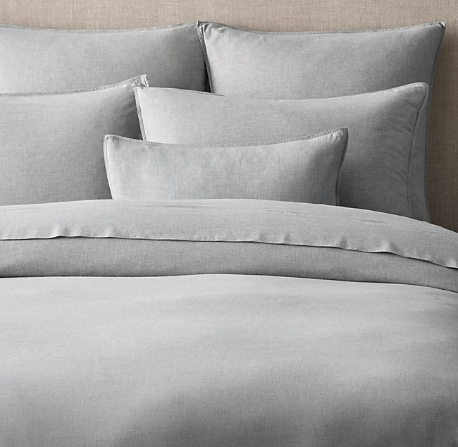 Heathered Cotton Cashmere Duvet Cover