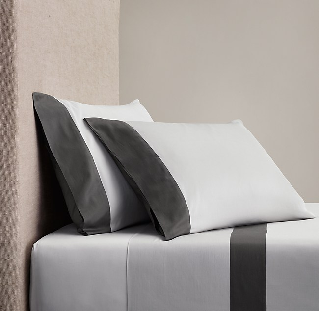 Italian Sateen Colorblock Sheet Set