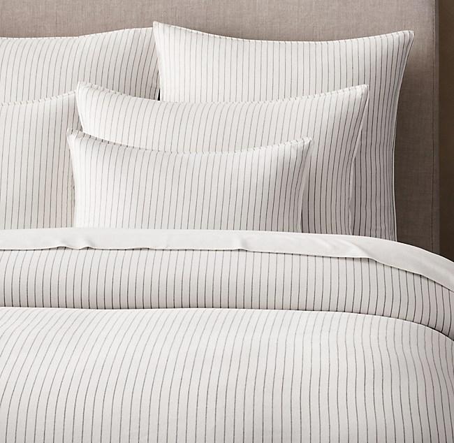 Soft Cotton Pinstripe Duvet Cover