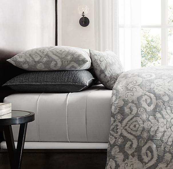 italian textural jacquard bedding collection