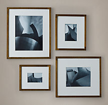 Antiqued Nailhead Narrow Gallery Frames - Antiqued Brass
