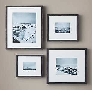 weathered oak narrow gallery frames black - Modern Picture Frame