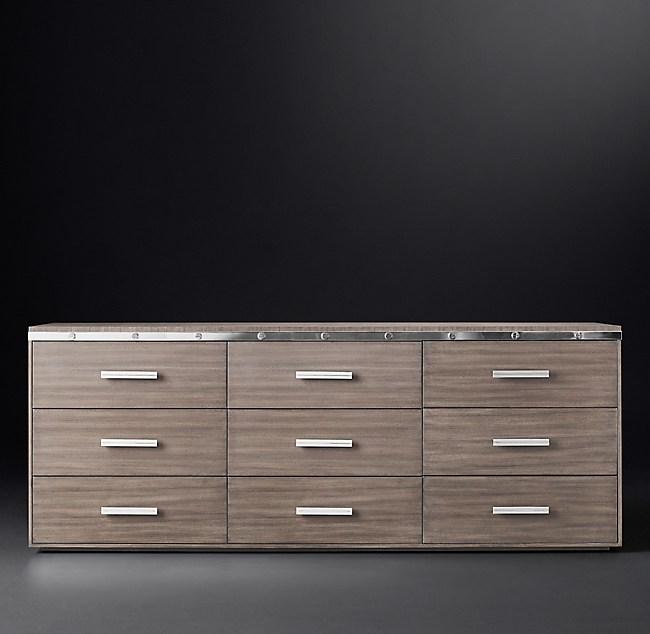 Rivet 9 Drawer Low Extra Wide Dresser