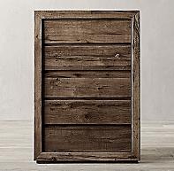 Reclaimed Russian Oak 5 Drawer Narrow Dresser