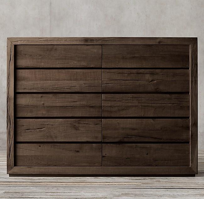 Reclaimed Russian Oak 10 Drawer Dresser