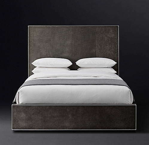 . All Leather Beds   RH Modern