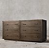 La Salle Metal Wrapped 6 Drawer Dresser