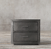 La Salle Metal Wrapped Closed Nightstand