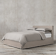 Parsons Slipcovered Bed