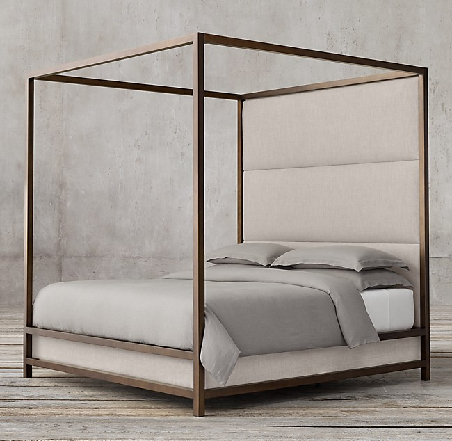 Modern 4 Poster Bed high panel canopy bed