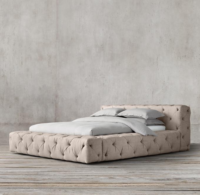 Soho Tufted Fabric Platform Bed