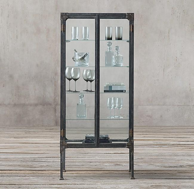1900s Steel & Glass Surgeon\'s Cabinet
