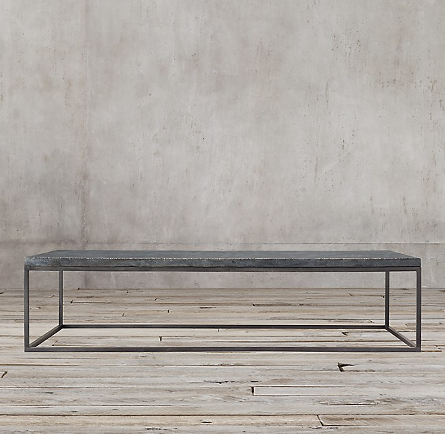 Delphine Bluestone Metal Coffee Table