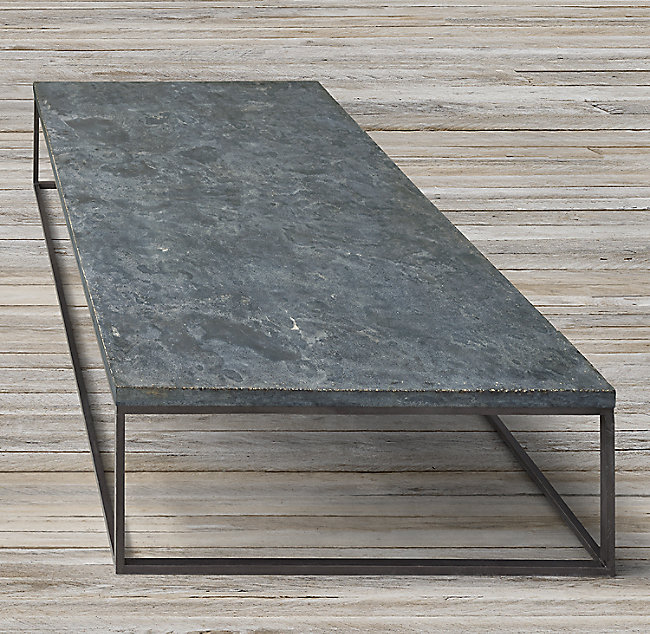 Delphine Bluestone Metal Coffee Table Click To Zoom
