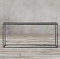 Delphine Bluestone Amp Metal Console Table
