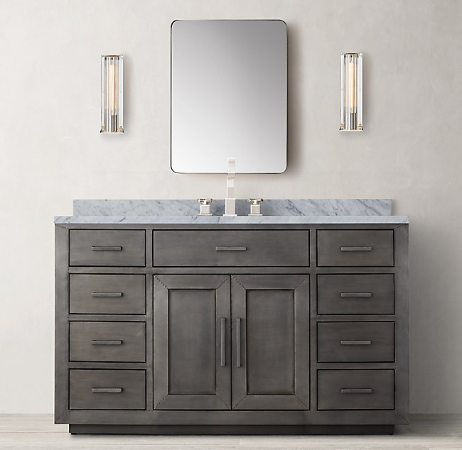 Admirable La Salle Metal Wrapped Single Extra Wide Vanity Download Free Architecture Designs Scobabritishbridgeorg