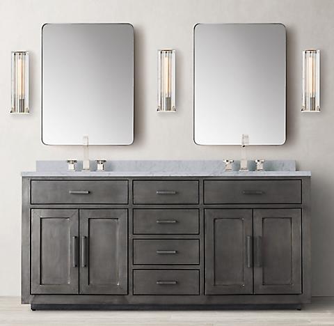 La Salle MetalWrapped Vanity Bath Collection – Metal Bathroom Cabinet