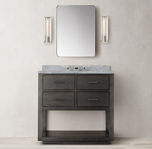 La Salle Metal Wrapped Single Washstand