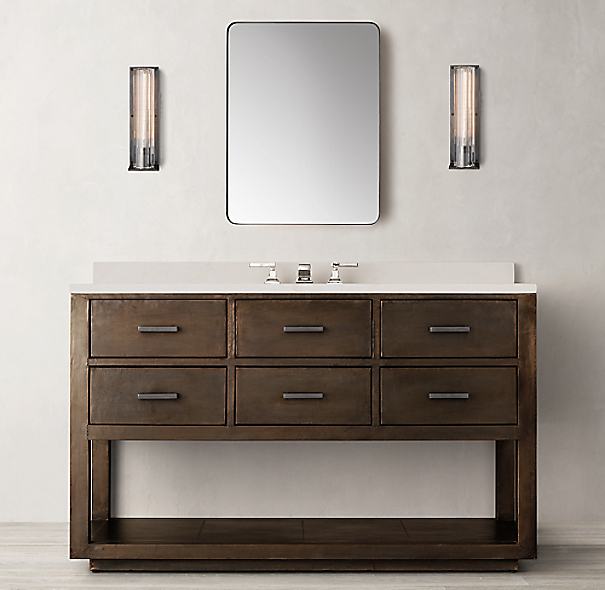 La Salle Metal Wrapped Single Extra Wide Washstand