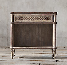 "Louis XVI Treillage 30"" Open Nightstand"