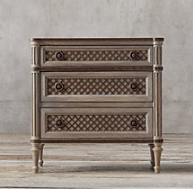 "30"" Louis XVI Treillage Closed Nightstand"