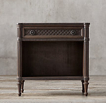 "30"" Louis XVI Treillage Open Nightstand"